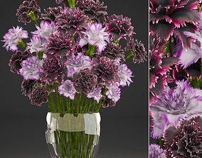 Bouquet of flowers Dianthus 3D model