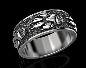 Ring wolf paw 3D print model fashion