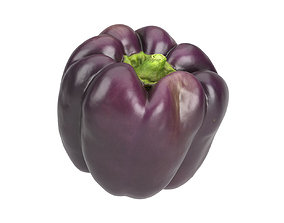 Photorealistic Tequila Bell Pepper 3D Scan grocery