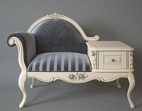 Armchair with telephone table Milano 3D