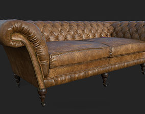 Classic Chesterfield Sofa 3D