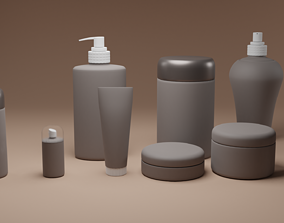 3D Cosmetics and skin care mock up