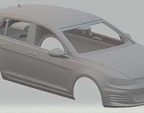 Volkswagen Golf GTI Mk7 Printable Body Car