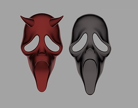FREE Scream ghost face mask from Dead by 3D print model 2