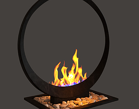 Alcoholic fireplaces 3D model