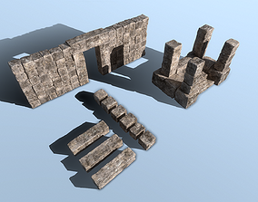 low-poly Stone Asset