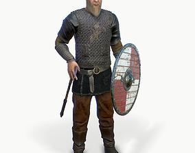 Viking warrior 3D asset rigged