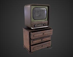 Old Television 3D model realtime PBR