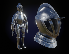 3D asset Medieval Knight Armor