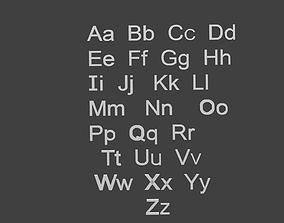 3D asset English Alphabet
