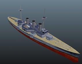 3D model realtime corvette BattleShip