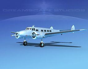 Lockheed L10 Electra Bare Metal 3D model