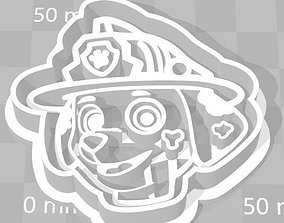 Paw Patrol Cookie Cutter Details 3D printable model