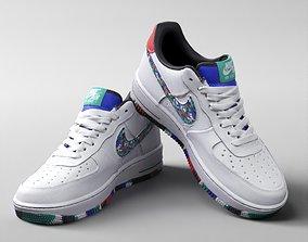3D model 001214 Nike Air force 1 multicolor