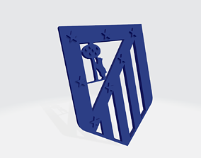 Atletico de Madrid escudo clasic 3D print model