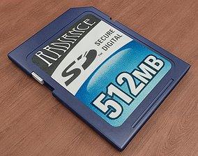 crucial 3D model SD Card