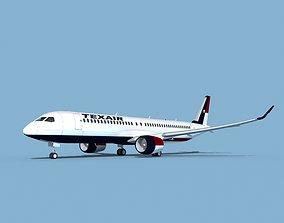 3D model Airbus A220-300 Texair