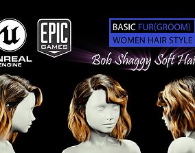 Bob Shaggy Soft Grooming Unreal Engine 4 3D
