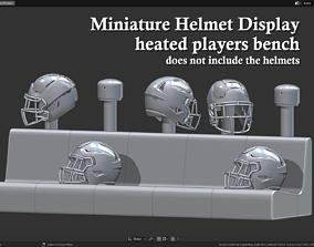 Miniature Helmets Display Diorama - 3D printable model 2