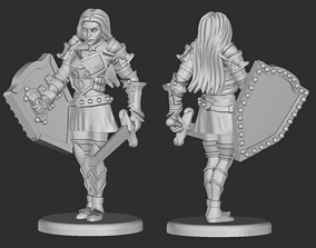 3D printable model Human Female Fighter or Paladin 1