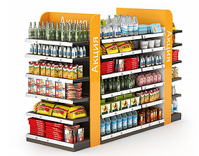 3D Racks for the Store with Filling
