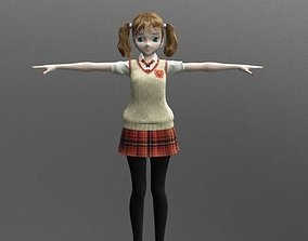 3D model Shelly School - Rigged Anime Character