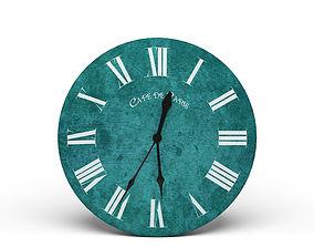 3D model french Modern Wall Clock