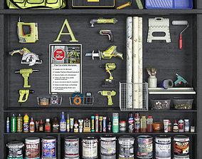 3D stapler garage tools set 10