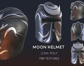3D model Moon helmet