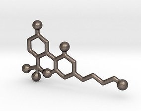 3D printable model THC - Molecules