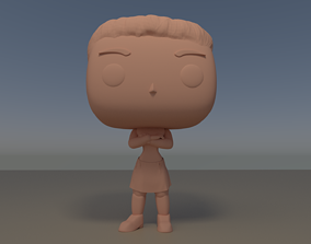 Custom Pop Female Arms Crossed Figure 3D Print DIY Model