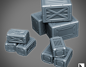 3D printable model Space Crates