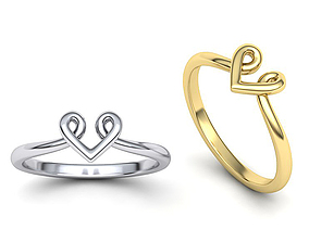 Heart Baby design ring 3dmodel
