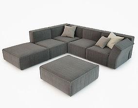 3D model Calia Italia Richard Corner Sofa