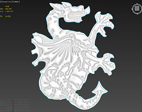 3D model Dragon v1 Suitable for embossing Hot Foil