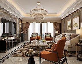 seat 3D model Modern livingroom