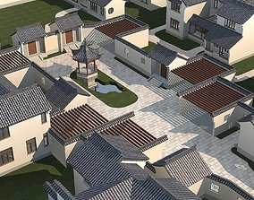 Chinese Style Architecture modular 3D model