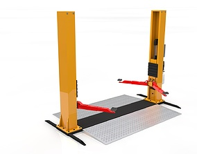 garage-equipment Car Lift Animated 3D