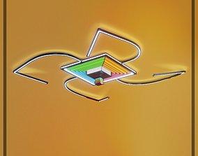 Ceiling Lamp Optical Illusion Squares unique 3D model 1