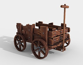 3D model Stylized Hand-Cart