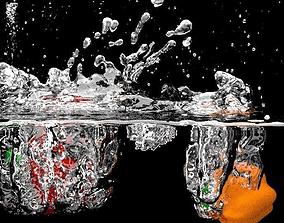 3D asset The splash scene
