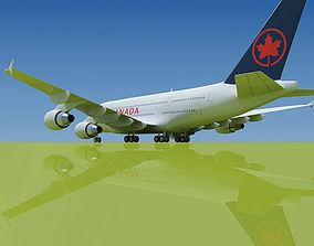 Airbus A380 Air Canada 3D