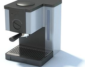 Stainless Espresso Coffee Maker 3D