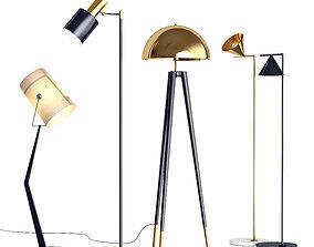 3D model Floor Lamps Set