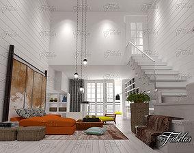 3D model game-ready Living Room