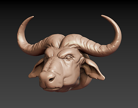 African buffalo head 3D print model