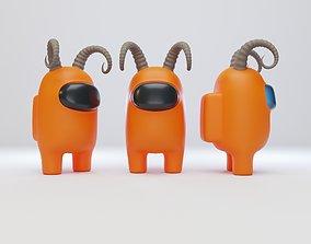 Among Us Ram Horns Character 3D