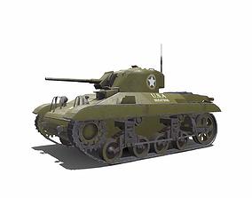 M22 Locust American Light Tank 3D model