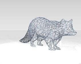3D model Raccoon Wireframe