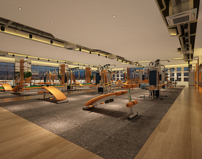 FG16-Hanhart-fittness room-GYM -Pilates-yoga 3D model
